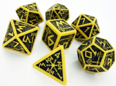 Yellow & Black Dwarven Dice Set